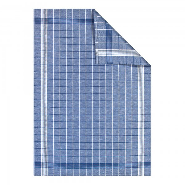 Betten Günther Kracht Geschirrtuch Trockenperle Halbleine Fb. blau voll 60x80 cm_2
